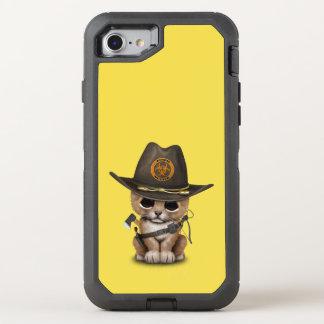 Cute Lion Cub Zombie Hunter OtterBox Defender iPhone 8/7 Case