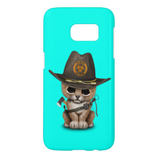 Cute Lion Cub Zombie Hunter Samsung Galaxy S7 Case