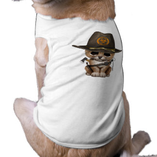 Cute Lion Cub Zombie Hunter Shirt