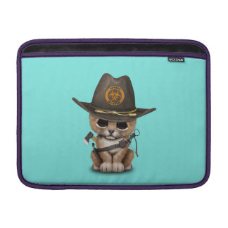 Cute Lion Cub Zombie Hunter Sleeve For MacBook Air
