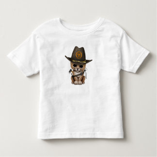 Cute Lion Cub Zombie Hunter Toddler T-shirt