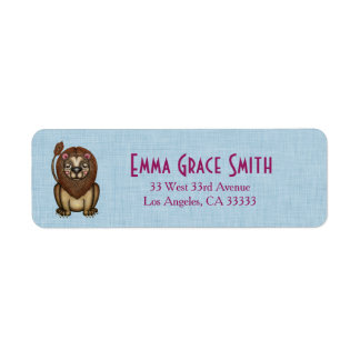 Cute Lion Graphic Return Address Labels