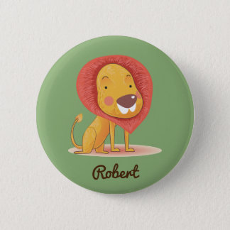 CUTE LION KING ADD YOUR NAME 2 INCH ROUND BUTTON