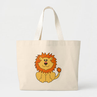 Cute Lion Large Tote Bag