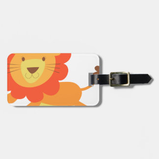 cute lion luggage tag
