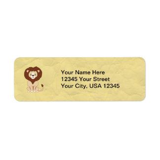 Cute Lion Return Address Label