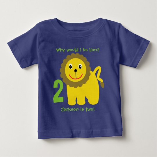 Cute lion second birthday baby T-Shirt