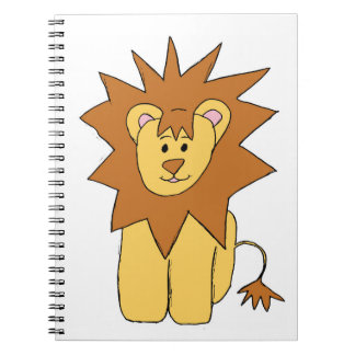 Cute Lion Spiral Notebook