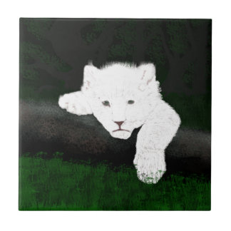 cute lion tile