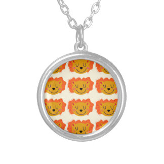 Cute lions on gold silver plated necklace