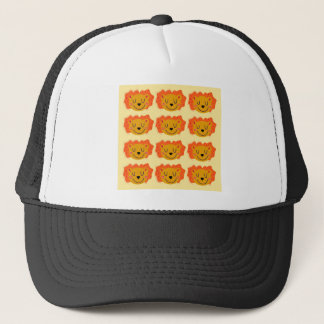 Cute lions on gold trucker hat