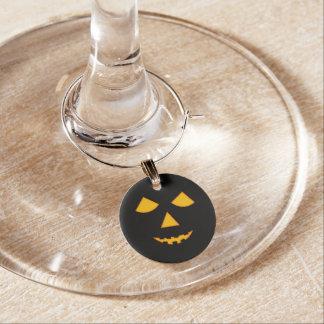 Cute Lit Jack O Lantern Halloween Dinner Party Wine Glass Charms