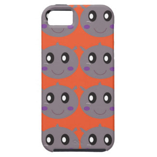 Cute litle Hippos on Orange iPhone 5 Covers