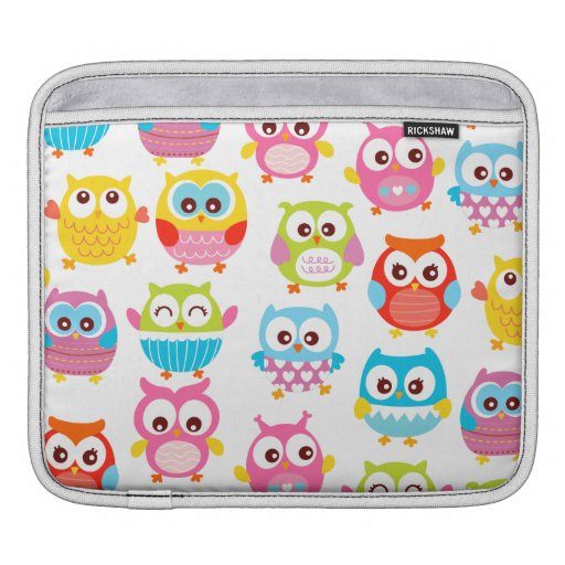 Cute Litte Owls Sleeves For iPads