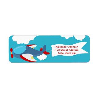 Cute Little Airplane Boy Birthday Address Labels