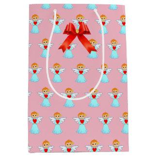 Cute little angel pattern medium gift bag