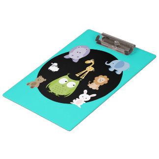 Cute Little Animals and butterflies Clipboard