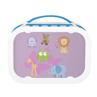 Cute Little Animals and butterflies Lunch Box