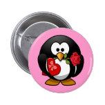Cute little animated Valentine penguin 2 Inch Round Button