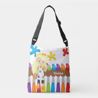 Cute Little Artist Crossbody Bag