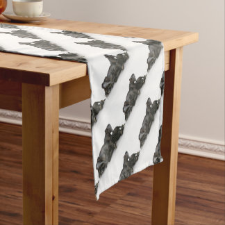 cute little baby elephants playing short table runner