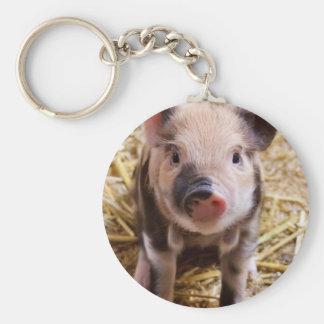 Cute little Baby Piglet Basic Round Button Keychain