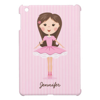 Cute little ballerina cartoon girl personalized cover for the iPad mini
