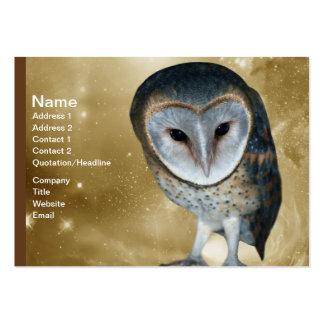 Cute little Barn Owl fantasy Business Card Templates