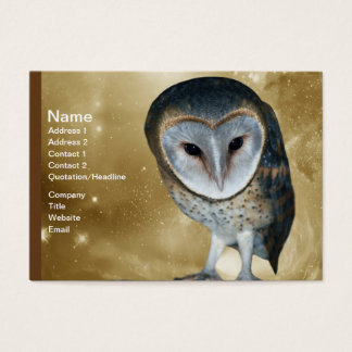 Cute little Barn Owl fantasy Business Card
