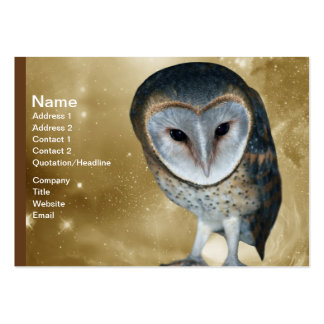 Cute little Barn Owl fantasy Large Business Card
