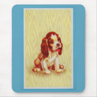 cute little beagle puppy mouse pad