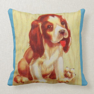 cute little beagle puppy throw pillow