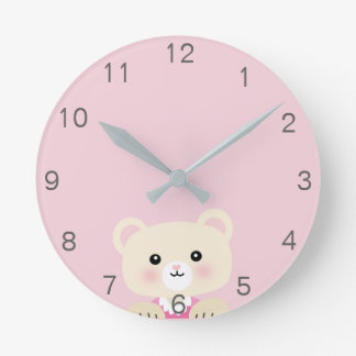 Cute little bear Nursery room Wall Clock