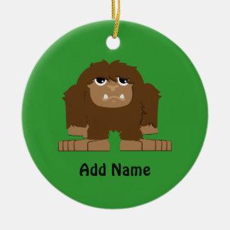 Cute little Bigfoot Round Ceramic Ornament