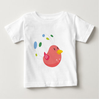 cute little bird flying and singing baby T-Shirt