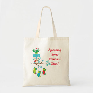 Cute Little Birds Christmas Tote Bag