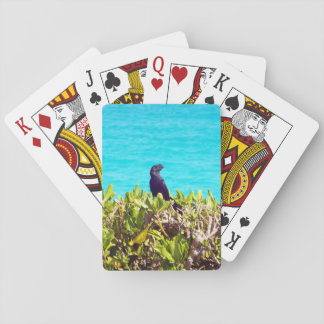 Cute Little Black Bird Playing Cards