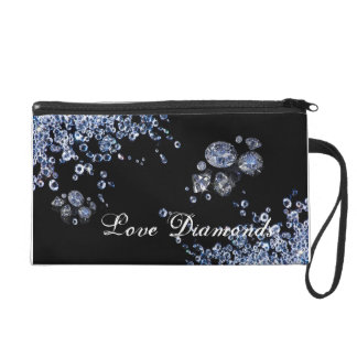 cute little black diamonds bag wristlet purses