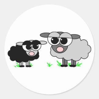 Cute Little Black Sheep & Big Gray Sheep Stickers