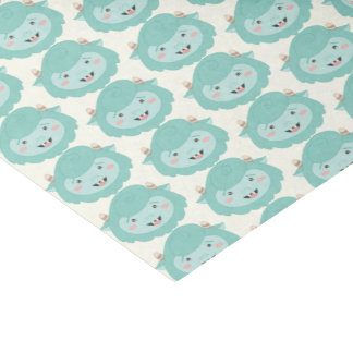 Cute Little Blue Monsters Tissue Paper