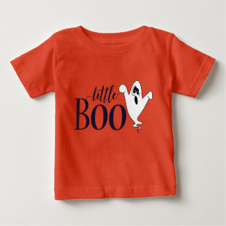 Cute Little Boo Ghostly Halloween Baby T-Shirt