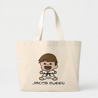 Cute Little Boy Karate Tote Bag
