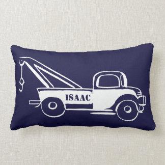 Cute Little Boy's Wrecker Truck and Train Lumbar Pillow