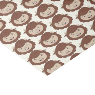 Cute Little Brown Monsters Tissue Paper