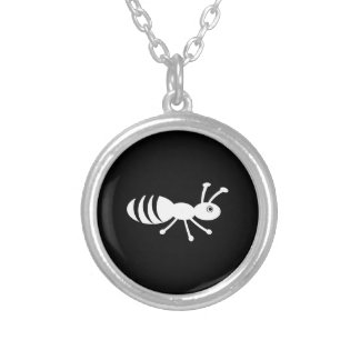 Cute Little Bug Silver Plated Necklace
