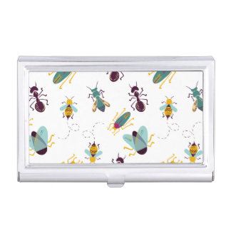 cute little bugs insects business card cases