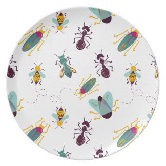 cute little bugs insects dinner plates
