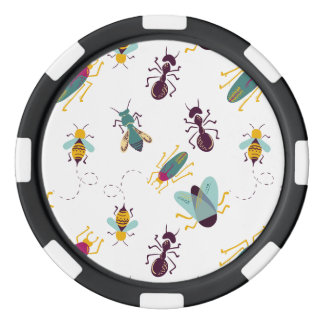 cute little bugs insects poker chip set