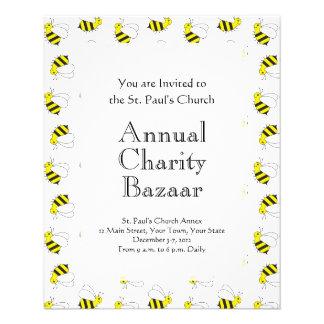 Cute Little Bumble Bee Pattern Flyer