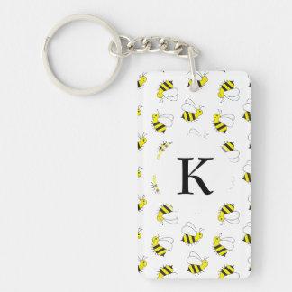 Cute Little Bumble Bee Pattern Keychain
